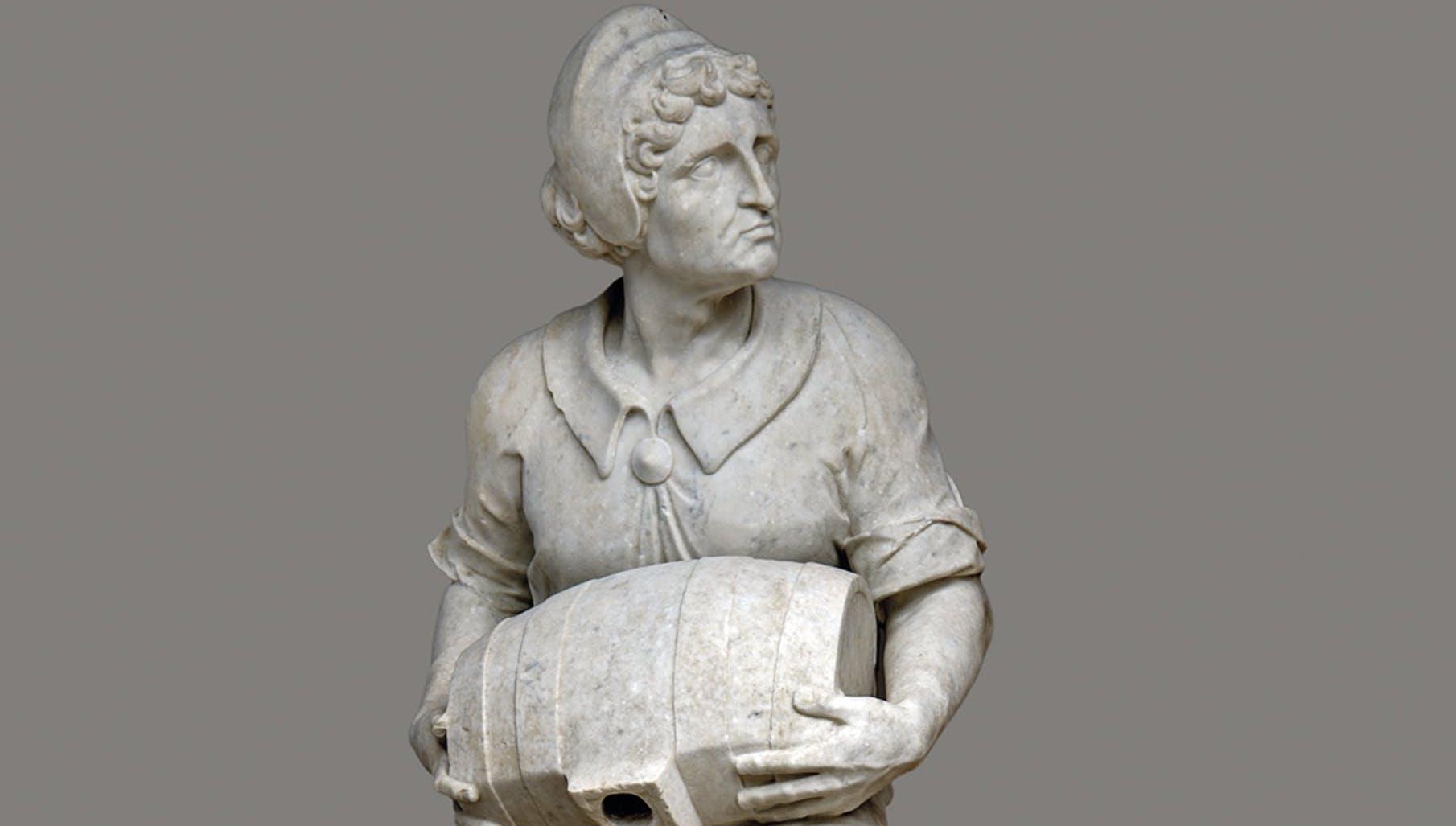 Villano con la botticella, 1556-1557, marmo. Giardino di Boboli,