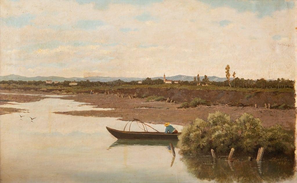 L. Bertelli, Il Reno , s.d., olio su tela, cm 69x95, collezione privata . © Simone Nocetti
