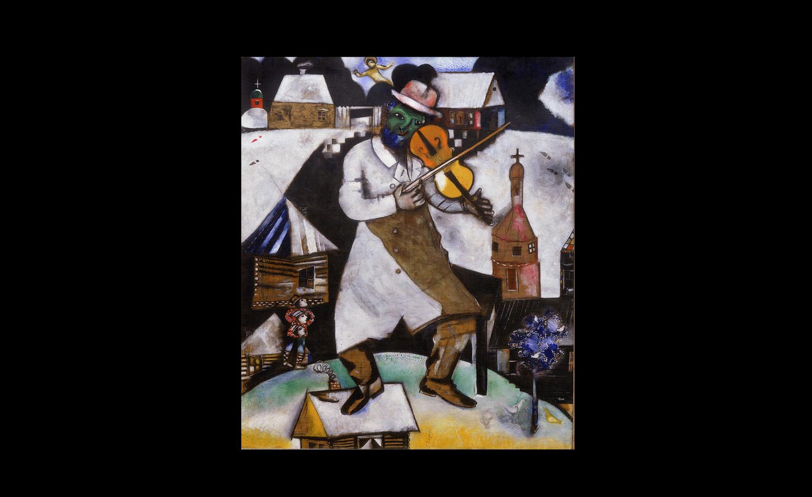 Marc Chagall, Le violoniste, 1912-13, collezione Stedelijk Museum, Amsterdam