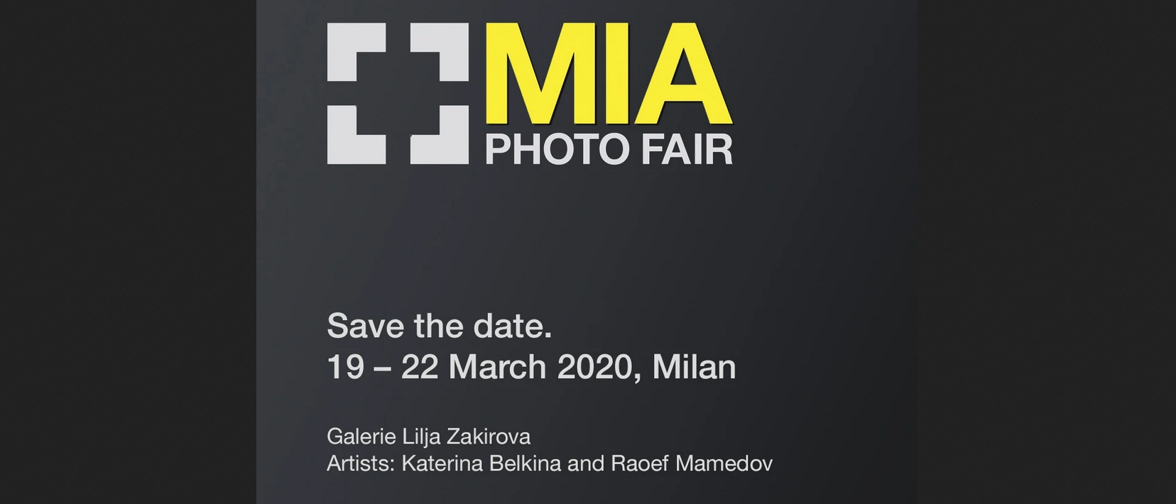 MIA PHOTO FAIR 2020 - X edizione