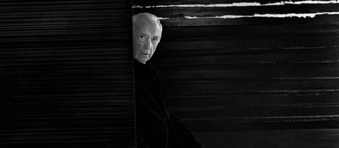 Pierre Soulages. Portrait de l'artiste, 2 octobre 2017 © Collection Raphaël Gaillarde,dist. ©-Grand Palais