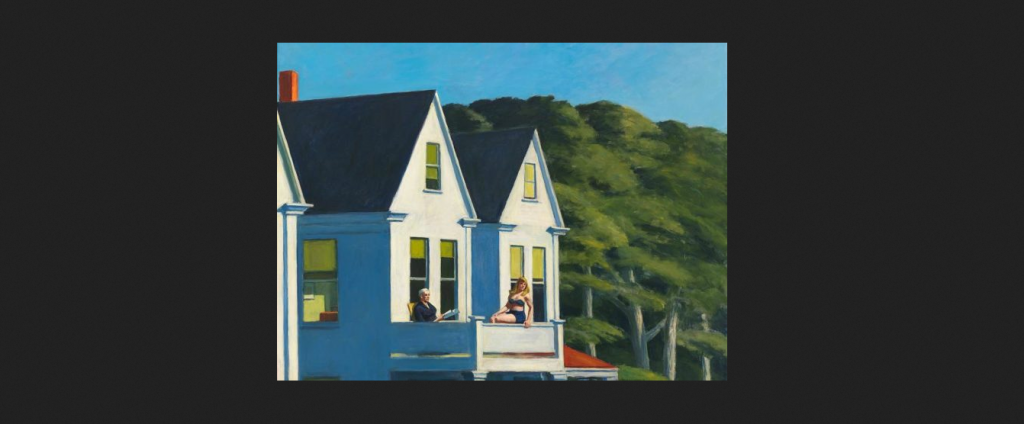 Edward Hopper, Second story sunlight, 1960 / Autore: Whitney Museum of American Art / Detentore del copyright: © © Heirs of Josephine Hopper / 2019, ProLitteris, Zürich – © 2019. Digital image Whitney Museum of American Art / Licensed by Scala