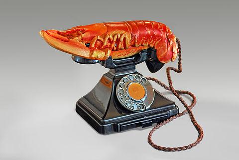 Hummertelefon | Salvador Dalí | 1938 © Fundació Gala-Salvador Dalí, Figueres/ VG Bild-Kunst, Bonn 2019
