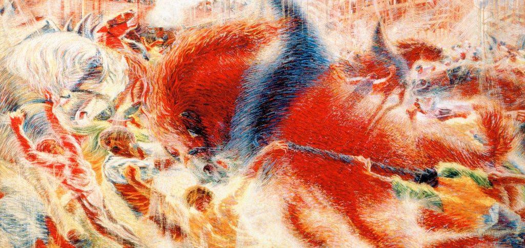 Umberto Boccioni, La città che sale (1910)