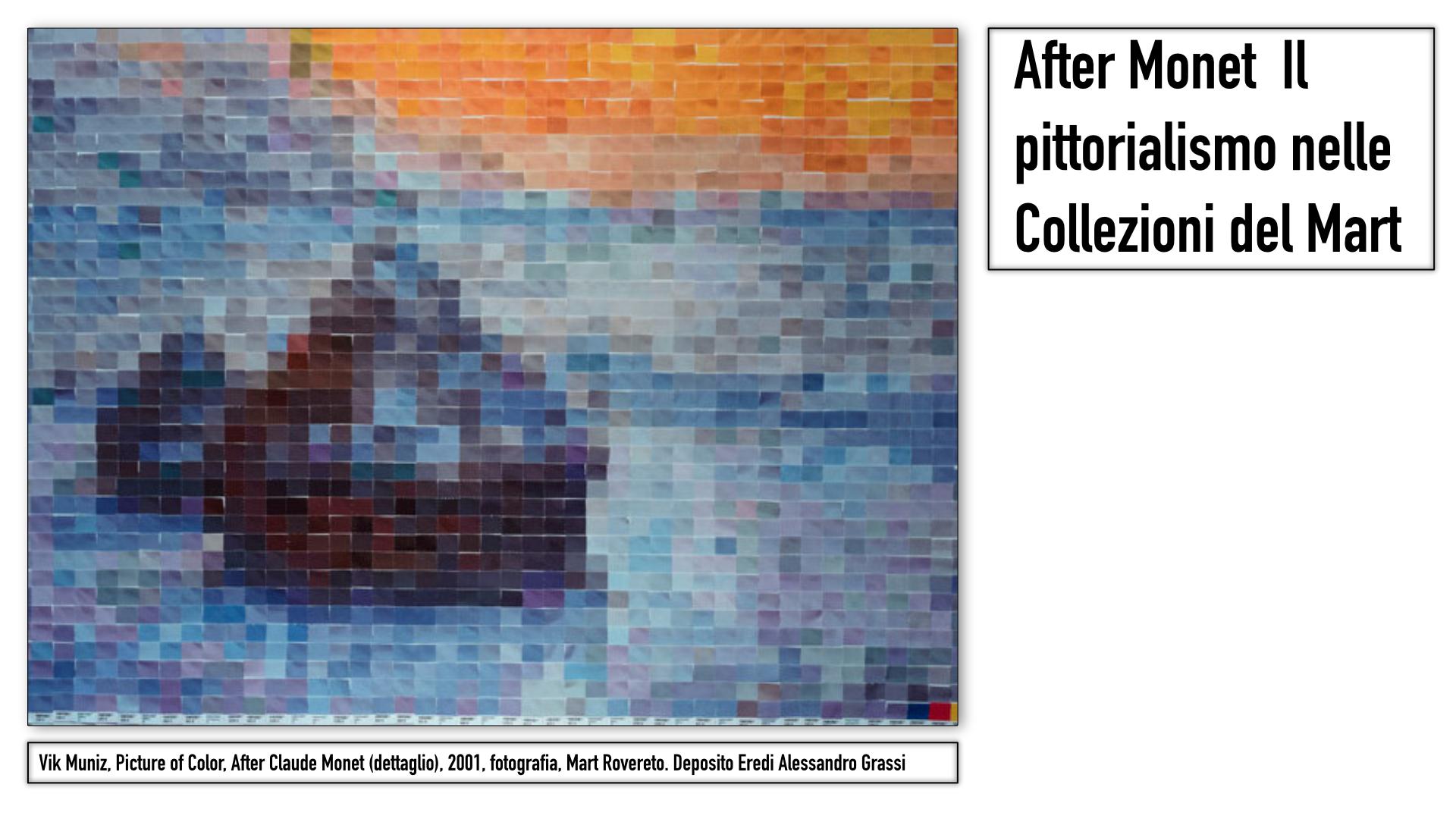 Vik Muniz, Picture of Color, After Claude Monet (dettaglio), 2001, fotografia, Mart Rovereto. Deposito Eredi Alessandro Grassi