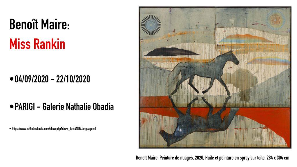 Benoît Maire, Peinture de nuages, 2020, Huile et peinture en spray sur toile, 284 x 304 cm