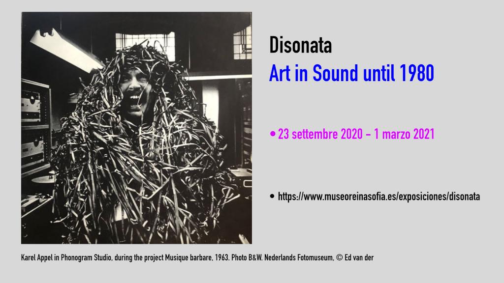 Karel Appel in Phonogram Studio, during the project Musique barbare, 1963. Photo B&W. Nederlands Fotomuseum, © Ed van der Elsken