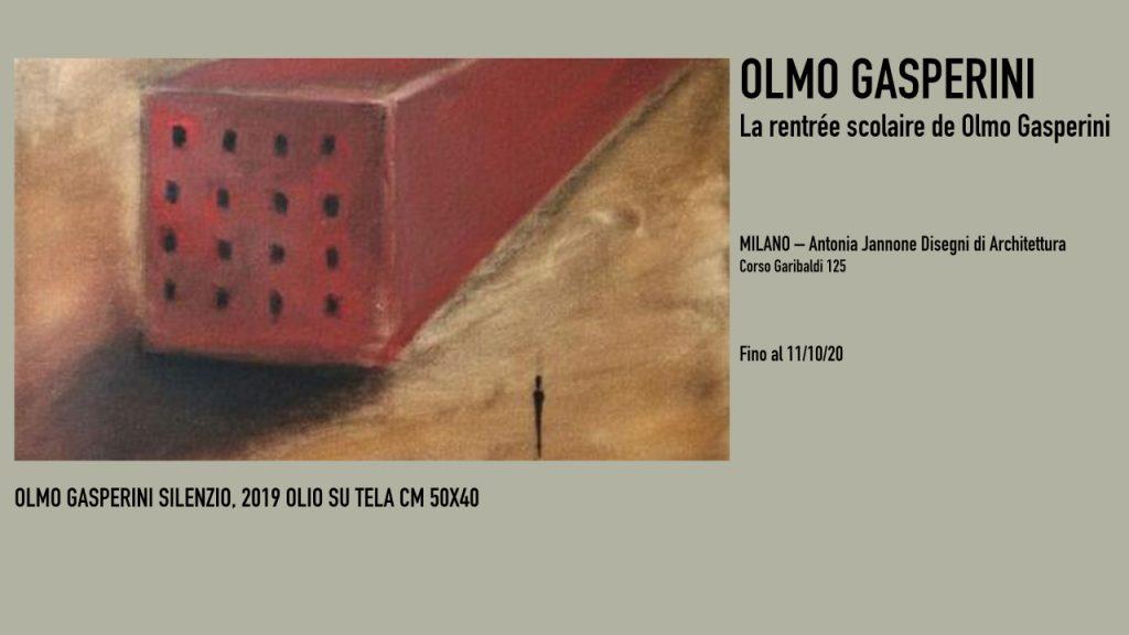 OLMO GASPERINI SILENZIO, 2019 OLIO SU TELA CM 50X40