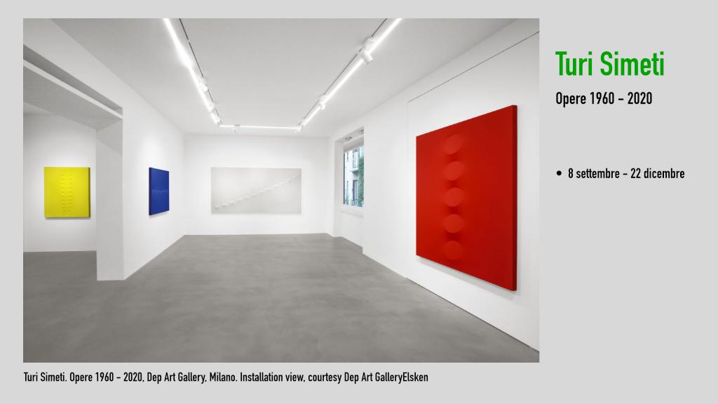 Turi Simeti. Opere 1960 - 2020, Dep Art Gallery, Milano. Installation view, courtesy Dep Art GalleryElsken