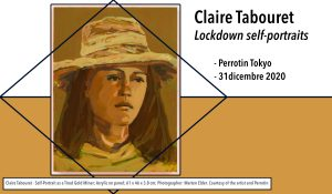 Claire Tabouret - Self-Portrait as a Tired Gold Miner; Acrylic on panel; 61 x 46 x 3.8 cm; Photographer: Marten Elder. Courtesy of the artist and Perrotin