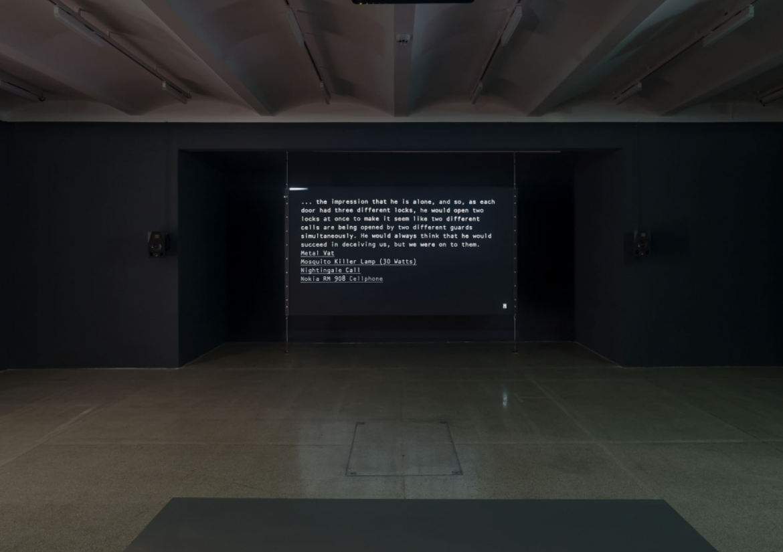 Lawrence Abu Hamdan, After SFX, 2018, exhibition view Secession 2020, photo: Iris Ranzinger