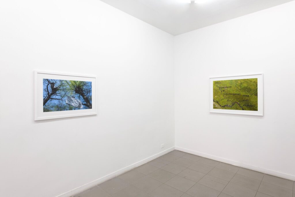 In and Against the War on Terra, 2021, installation view at The Gallery Apart (ground floor), photo by Giorgio Benni