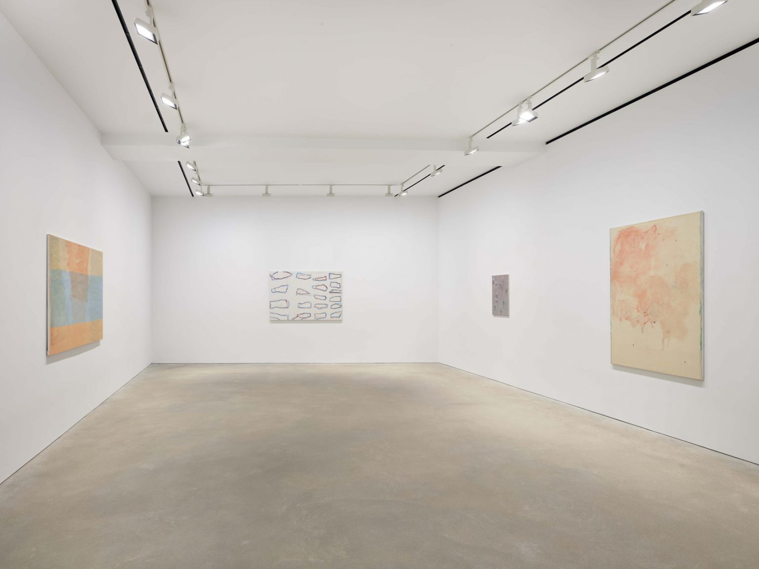 Installation view, Raoul De Keyser, David Zeirner, Hong Kong, 2021