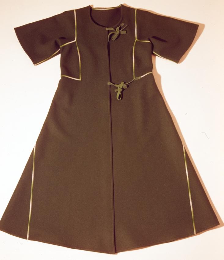 Nanni Strada, abito 'Plutone' della collezione etnologica, 1972