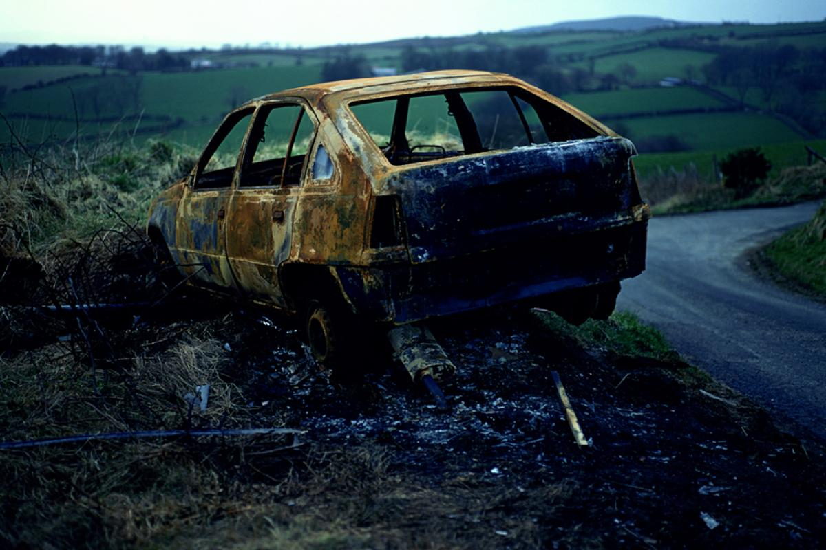 © Willie Doherty Border Incident 1994 Courtesy The Irish Museum of Modern Art Dublino Medium - Cibachrome mounted on aluminum Dimensions - 122 x 183 cm Credit Line - IMMA Collection: Purchase, 1994 Edition Edition - 3/3 Item Number - IMMA.451