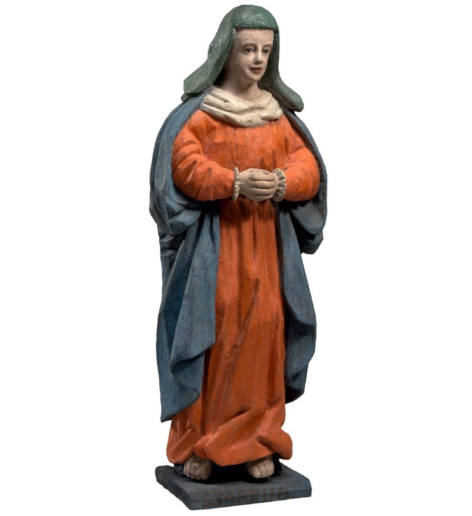 Our Lady of Sorrows - Unknown author - 17th – 18th century - Sede: Raseiniai District, Šiluva Parish, Akmenė Village, Lithuania - 85 cm Wood carving, polychrome