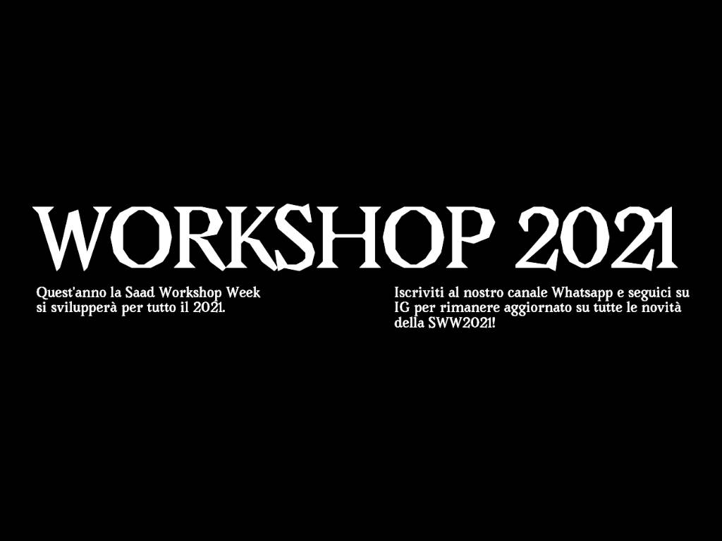 WORKSHOP 2021 Design & Architecture