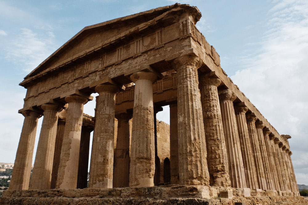Nov. 17, 2014 - Agrigento, Italy - The Valley of the Temples, Valle dei Templi, is an archaeological site near Agrigento included in the UNESCO Heritage Sites list in 1997. With Sicily's fourteen percent unemployment rate, one of the highest in Italy, navigators of the economy look to tourism as a major source of income in the future throughout the island. (Credit Image: © Nir Alon/ZUMA Wire)