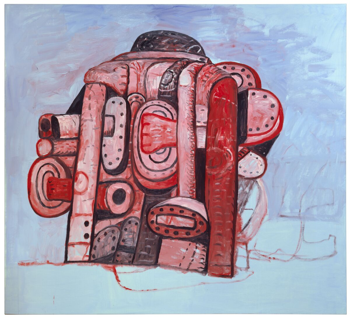 Back View II Philip Guston 1978 Oil on canvas 185.4 x 205.7 cm / 73 x 81 in © The Estate of Philip Guston and Hauser & Wirth Private Collection