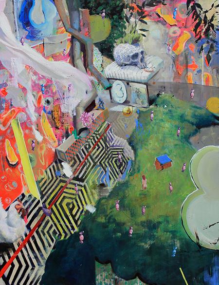 short passage, oil painting on canvas, 170 x 130 cm