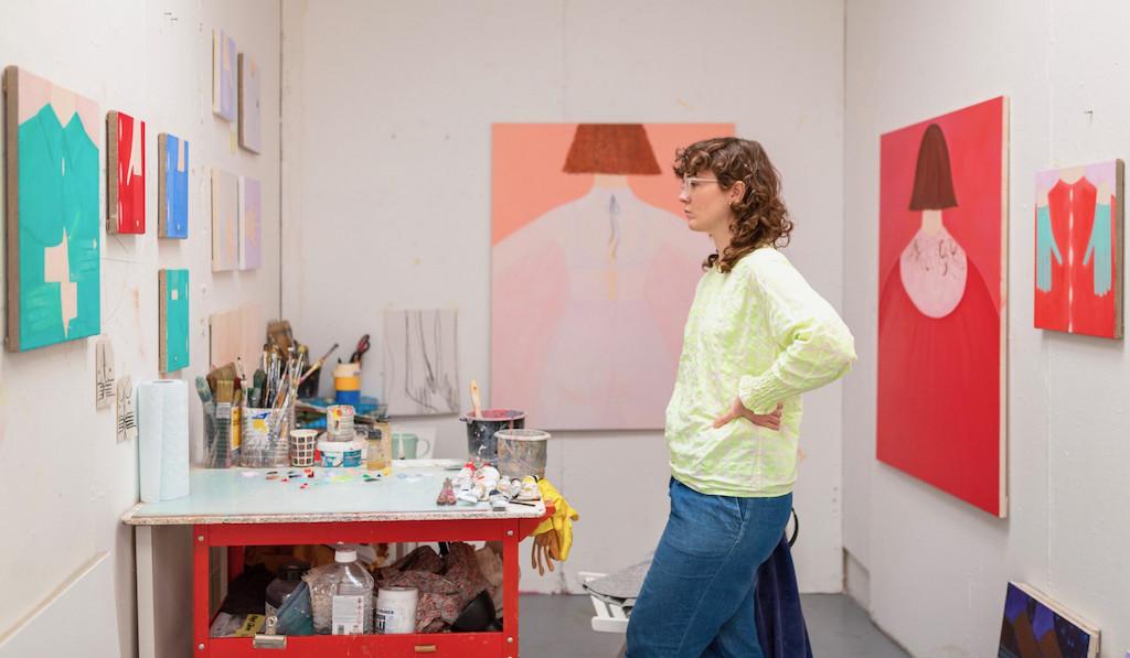 Ellie MacGarry in her studio, 2021
