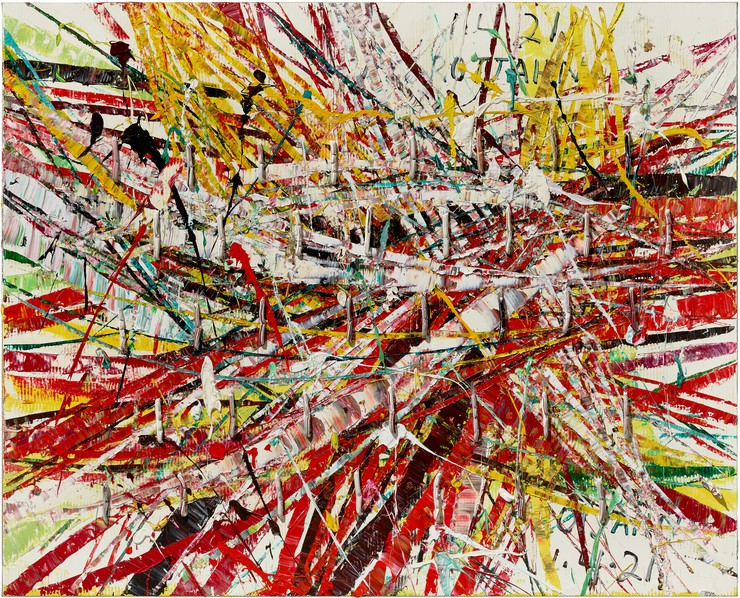 Mark Grotjiahn, Horizontals, Installation view.