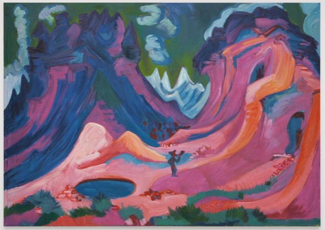Rudolf Stingel, Kirchner Amselfluh 1922, 2020
