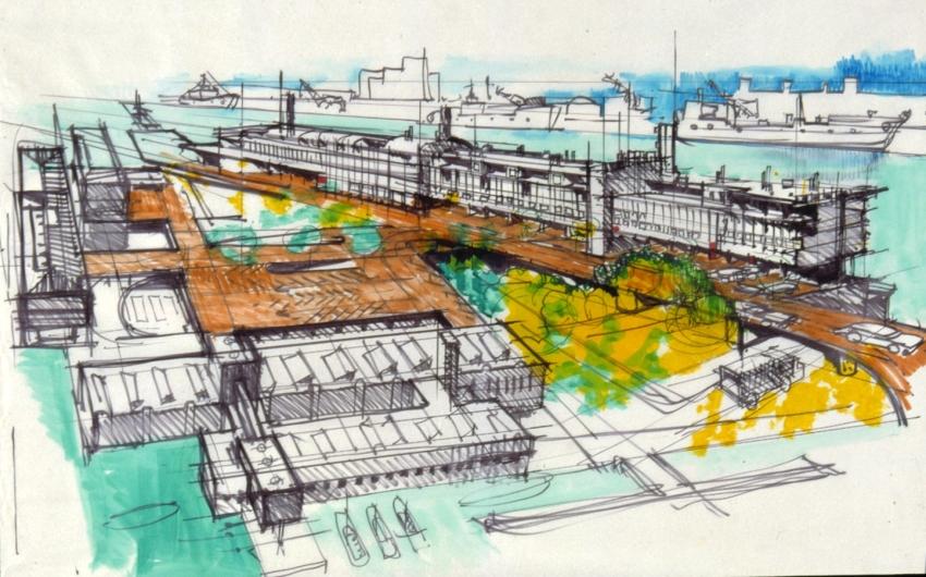 Progetto per il Tronchetto e Piazzale Roma 1968