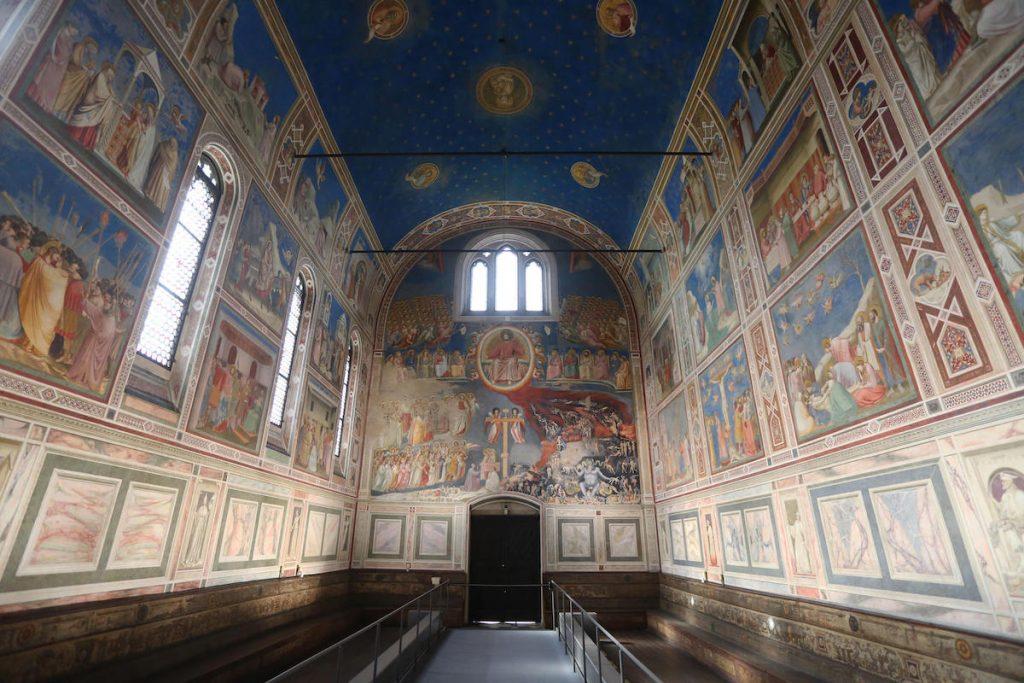 La Cappella degli Scrovegni riaperta al pubblico, 3 marzo 2020 a Padova. ANSA/NICOLA FOSSELLA