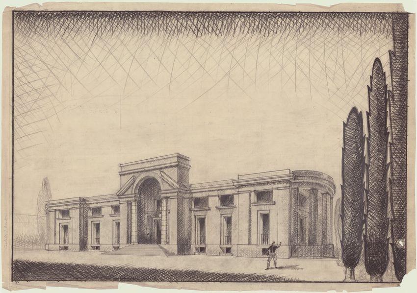 Paolo Mezzanotte, Casa del Balilla, Gallarate, 1927-29