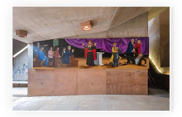 Patrizio di Massimo, The Escalator Cycle, Installation view