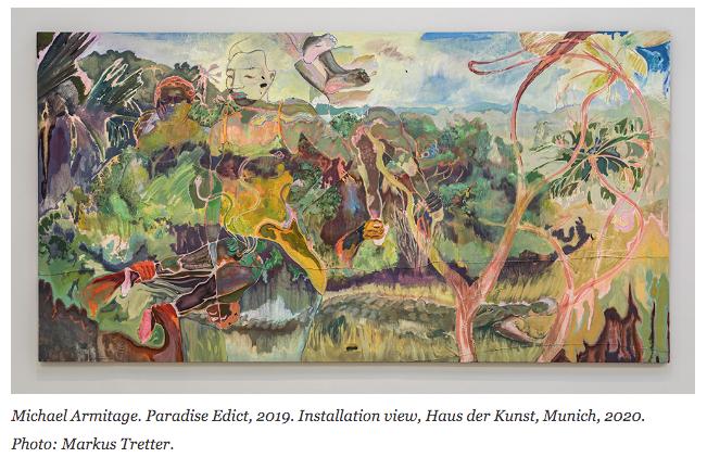 Michael Armitage: Paradise edict, Installation view