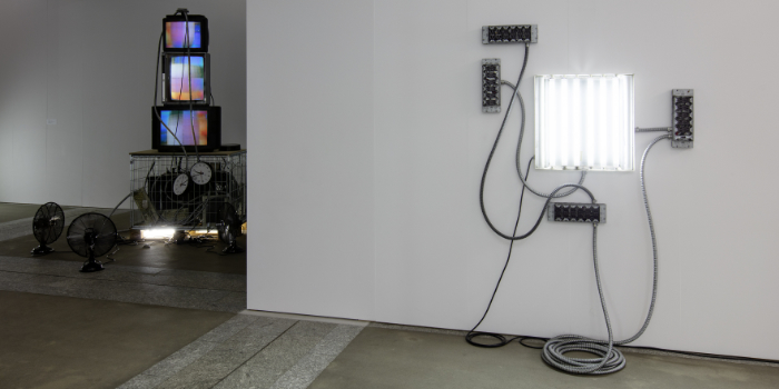 World on a wire, Installation view