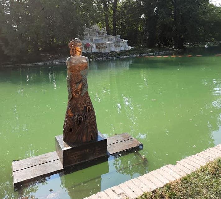 Allestimento mostra di Water Art GLORIS D'AMORE 2021 PARCO DUCALE PARMA