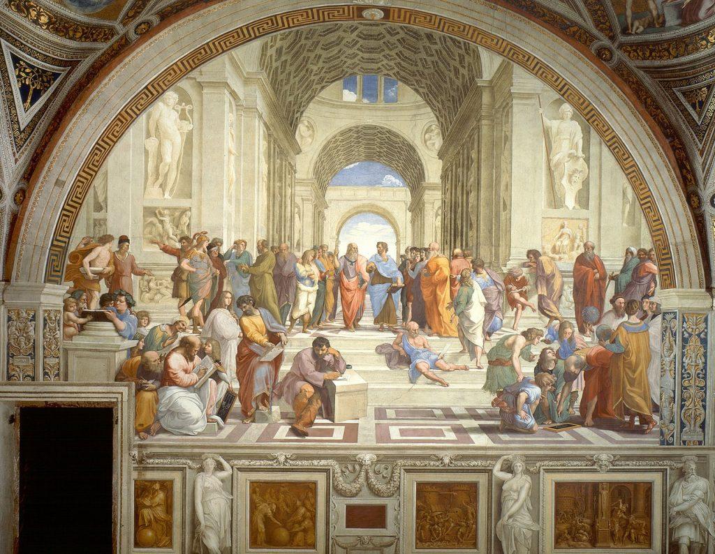Scuola di Atene - Raffaello Sanzio. Raphael, Public domain, via Wikimedia Commons